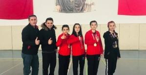 Badminton bölgesi birincisi Hafik...