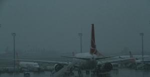 Erzincanda yoğun sis hava ulaşımını...