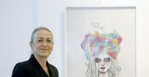 """""""Geceyle Ağlaşan Sabahla Gülüşen Kadınlar"""" sergisi Çankaya'da açıldı"""