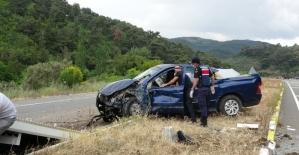Arazi aracı takla attı: 2 yaralı