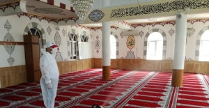 Bafra'da camilere dezenfekte