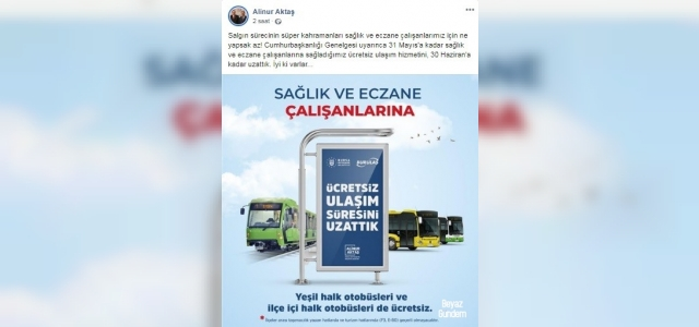 Bursa Büyükşehir'den sağlık çalışanlarına destek