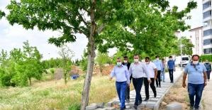 Çınar, millet bahçesi proje alanında incelemelerde bulundu