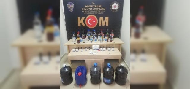 Denizli'de kaçak alkol ve tütün operasyonları: 3 gözaltı