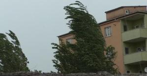 Doğubayazıt'ta sağanak ve fırtına etkili oldu