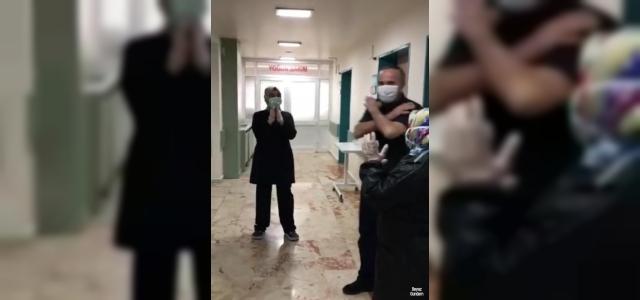 Elazığ'da koronayı yenen 60'ıncı hasta böyle uğurlandı