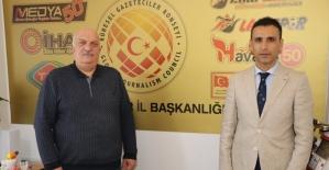 Gençlik ve Spor İl Müdürü Özdemir, KGK İl Başkanlığını ziyaret etti