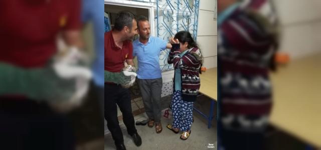 Kurtarılan kedisi için sevinç gözyaşları döktü