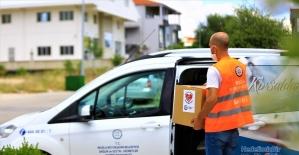 Muğla Büyükşehir Belediyesinden 24 bin aileye yardım kolisi