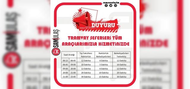 Samsun'da tramvay seferlerinde 'normalleşme'