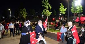 Çorum halkı Ayasofya camisinin ibadete açılmasını mehterle kutladı