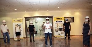 Gaziantep ytong sektörde TSE Covıd-19 güvenli üretim belgesi alan ilk firma oldu