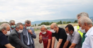 Kaymakam Pişkin, Karayolları 15. Bölge Müdürü Oğuzhan ile incelemelerde bulundu