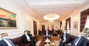 Vali Gürel ve milletvekilleri Bakan Gül ile bir araya geldi