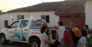 Başkan Bilgin öncülük etti İzmir'den Saruhanlı'ya yardım eli uzandı
