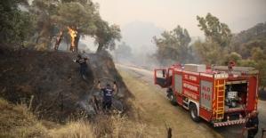 Büyükşehir Belediyesi İmamköy'deki yangın için teyakkuza geçti