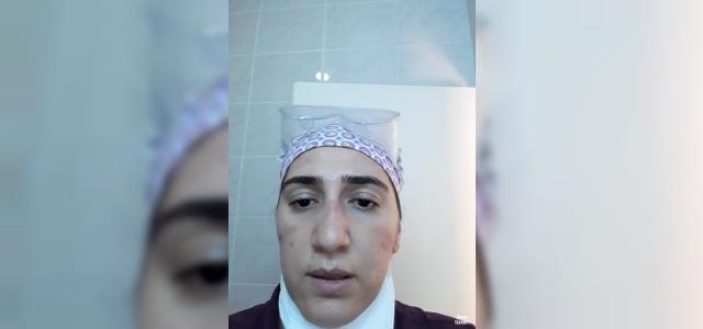 24 saat maske ve gözlükle hastalara baktı, yüzünde yaralar oluştu