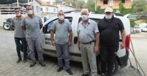 Burhaniye'de temizlik işçileri takdir topladı