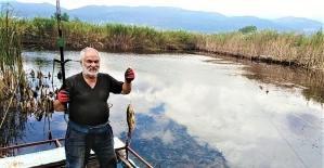 Tapulu tarlada tekneyle balık avlıyorlar
