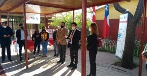 TİKA'dan Şili'deki Mustafa Kemal Atatürk İlköğretim Okulu öğrencilerine Covid-19 yardımı