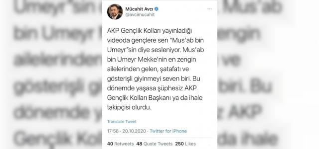 CHP'den sahabeye yapılan terbiyesizliğe tepki