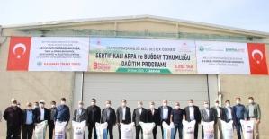 Karaman'da doludan zarar gören çiftçilere tohum desteği