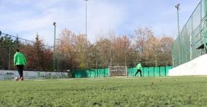 Çankaya'nın engelli futbolcularından farkındalık antrenmanı