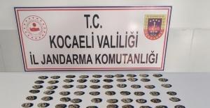 Kocaeli'de 100 tarihi sikke ile yakalanan 7 kişi gözaltına alındı