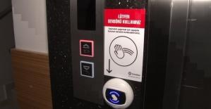 Korona virüse karşı sesli komutlu asansör