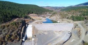Su tutmaya başlayan Gökgöz göleti 760 dekar arazi sulanacak