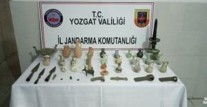 Yozgat'ta farklı dönemlere ait 39 tarihi eser ele geçirildi
