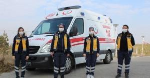 112'nin kadın ambulans sürücüleri