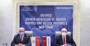 ATO ve Halkbank'tan sigorta acenteleri ve eksperlerine yönelik protokol