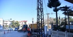 Isparta'da elektrik hatları yer altına alınıyor