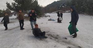 Kütahyalıların kayak keyfi
