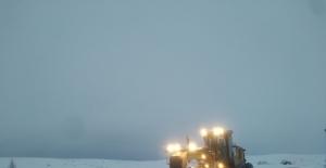 Malatya'da yoğun kar mesaisi