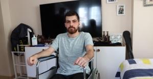 (Özel) Ölümden dönen genç sağlıkçı iki bacağını da kaybetti