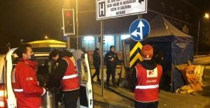 Türk Kızılay ekipleri Ankarada...