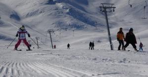 Van'da kayak sezonu bu yıl da geç başladı
