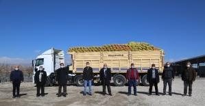Develi'de ihtiyaç sahiplerine patates dağıtımına başlandı