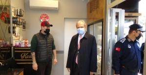 Silivri'de işletmelere korona virüs denetimi