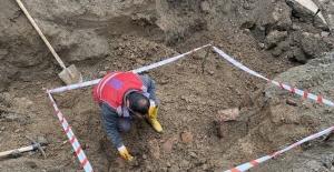 Alt yapı çalışmalarında tarihi eser kalıntıları bulundu
