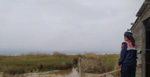 Jandarma ekipleri Göksu Deltasında denetim yaptı