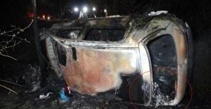 Samsun'da sürücünün yanarak öldüğü aracın bagajından 11,5 kilo uyuşturucu hap çıktı