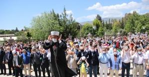Şehit olan Filistinliler için İzmir'de gıyabi cenaze namazı