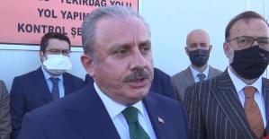 TBMM Başkanı Şentop, Tekirdağ'da Hayrabolu yolu şantiyesini inceledi