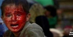 Terör devleti İsrail Filistinli çocukları öldürüyor!