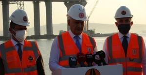 """AK Parti Genel Başkanvekili Yıldırım: """"Önümüzdeki 18 Mart törenlerinde inşallah köprümüzden geçiş, resmi açılış mümkün hale gelecek"""""""