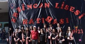 Tarihi Erzincan Lisesi 113. mezunlarını coşkuyla uğurladı
