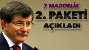 Başbakan 2. paketi açıkladı
